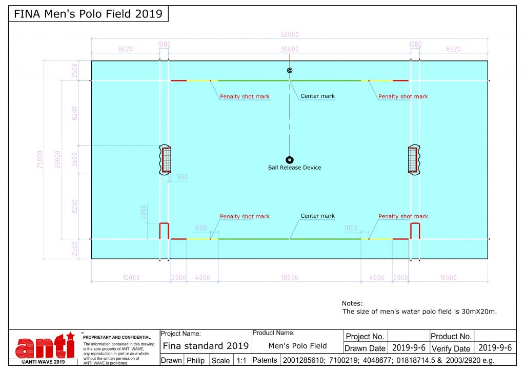 Anti Wave FINA Mens Polo Field 2019