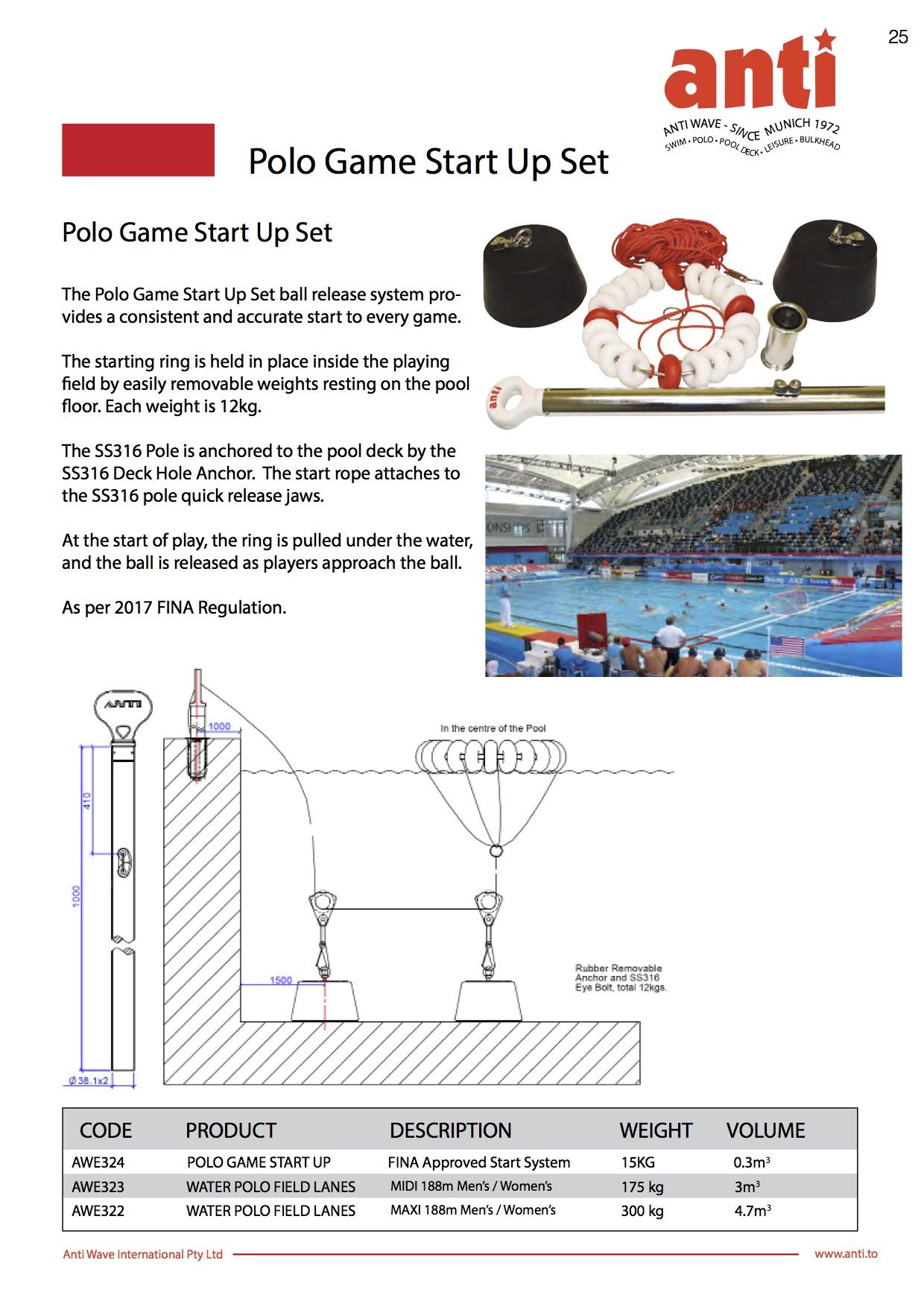 Polo Start Set FINA Info Sheet